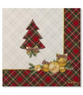 Tovaglioli 3 Veli Natale in Scozia 3 confezioni