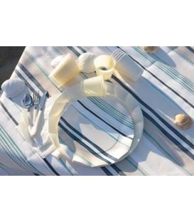 Piatti Piani di Carta a Petalo Madreperla 32,4 cm