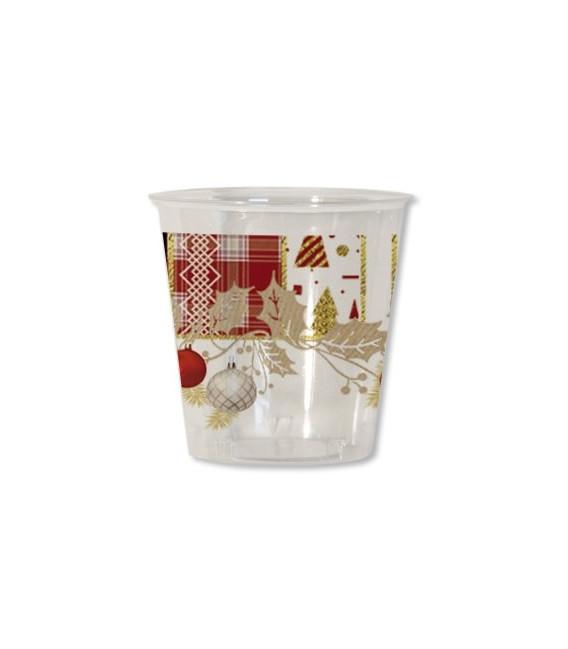 Bicchieri di Plastica Natale 300 cc Patchwork 3 confezioni