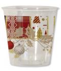 Bicchieri di Plastica Natale Patchwork 300 cc