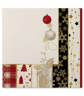 Tovaglioli Natale Patchwork 33 x 33 cm 3 confezioni