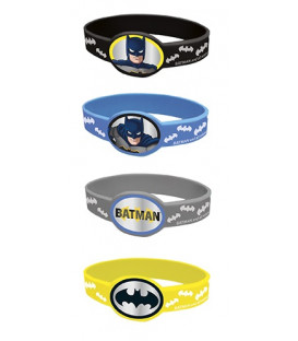 Set 4 braccialetti colori assortiti Batman 4 pz