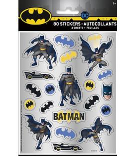 Set 4 fogli con adesivi Batman 4 pz