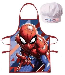 Set Grembiule e Cappello Bambino Spiderman 2 Pz Disney