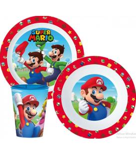 Servizio da tavola Super Mario Bros plastica per microonde 3 Pz