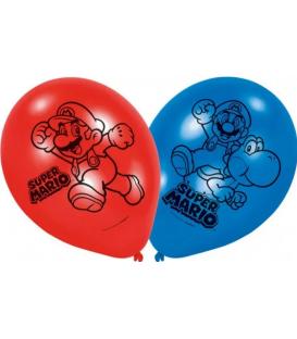 Palloncini Lattice Super Mario Bros 22,8 cm 6 Pz