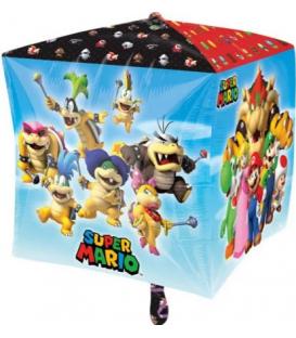 Pallone foil Cubo 38 cm Super Mario Bros 1 Pz