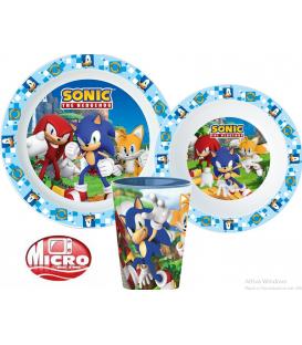 Servizio da tavola Sonic plastica per microonde 3 Pezzi