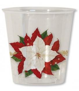 Bicchieri di Plastica Stella di Natale 300 cc 3 confezioni