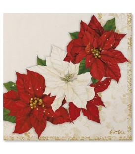Tovaglioli Stella di Natale 33 x 33 cm