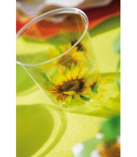 Bicchieri di Plastica Girasole 300 cc