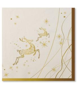 Tovaglioli Golden Christmas 33 x 33 cm