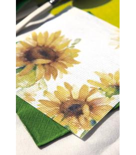 Tovaglioli 33 x 33 cm 3 Veli Sunflower 3 confezioni
