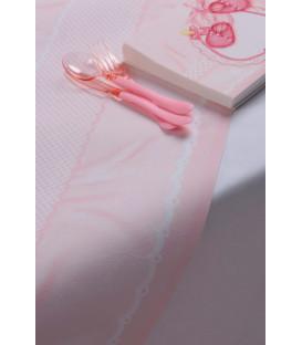Tovaglioli Eccomi - Baby Rosa 33 x 33 cm 3 confezioni