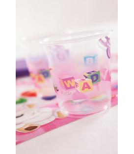 Bicchieri di Plastica PPL Primo Compleanno Palloncini Rosa 250 cc 3 confezioni