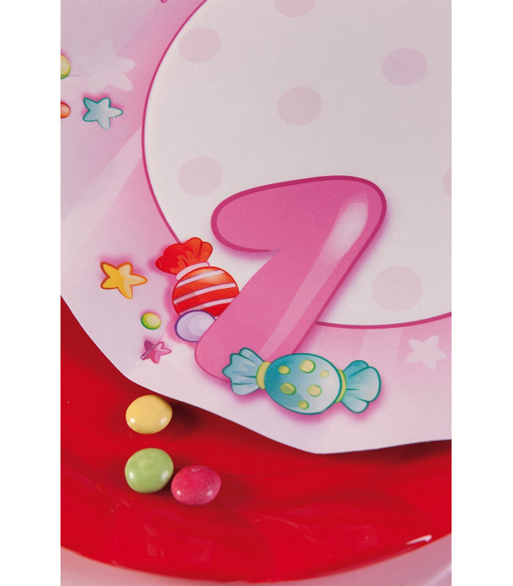 Tovaglioli Primo Compleanno Rosa 33 x 33 cm 3 confezioni