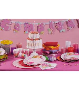 Tovaglioli 3 Veli Primo Compleanno Rosa 33x33 cm