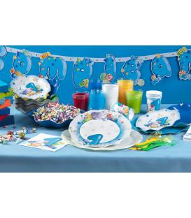 Tovaglioli Primo Compleanno Celeste 33 x 33 cm 3 confezioni