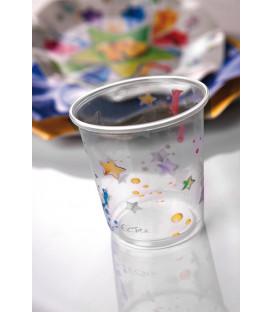 Bicchieri di Plastica PPL 18 Anni Stelle 250 cc