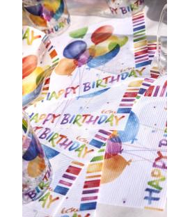 Tovaglioli 3 Veli Happy Birthday 3 confezioni