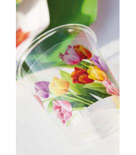 Bicchieri di Plastica 300 cc Tulipani Colorati 3 confezioni