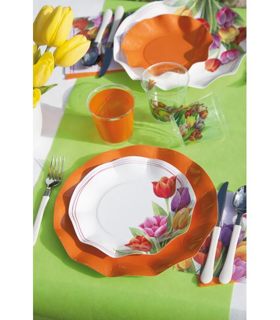 Bicchieri di Plastica Tulipani Colorati 300 cc