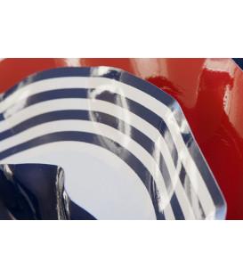 Piatti Piani di Carta a Petalo Navy Blu