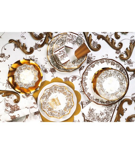 Piatti Fondi di Carta a Petalo Noblesse Oro 18,5 cm