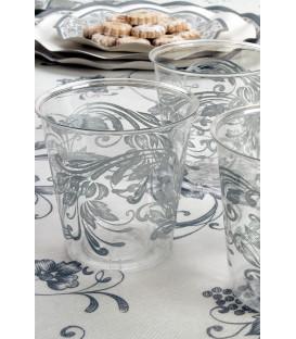 Bicchieri di Plastica Noblesse Argento 300 cc