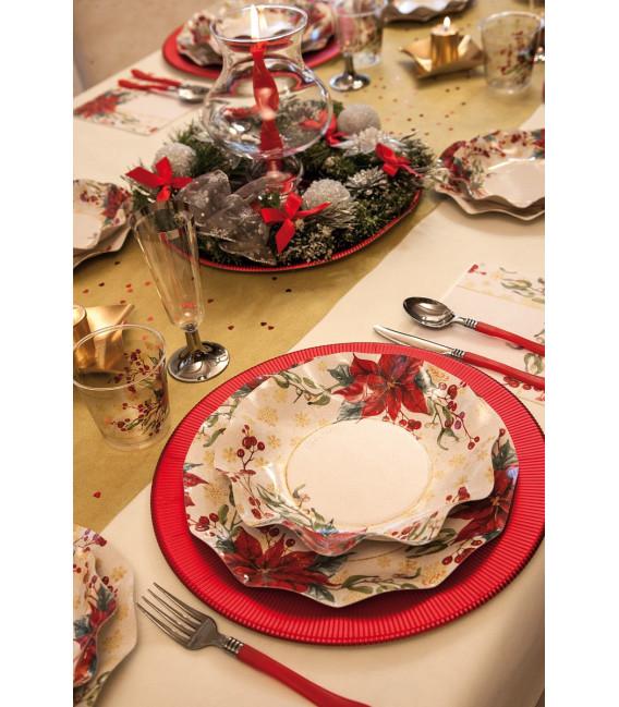 Piatti Piani di Carta a Petalo Natale Romantico