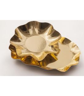 Zuppiera Grande di Carta a Petalo Oro Metallizzato 35 cm