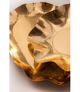 Vassoio Rettangolare di Carta a Petalo Oro Metallizzato