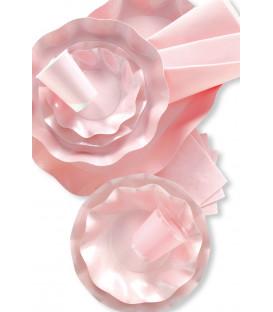 Bicchieri di Plastica Rosa Perlato 300 cc