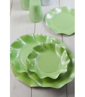 Bicchieri di Plastica Verde Perlato 300 cc