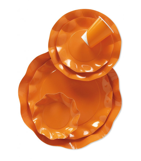Bicchieri di Plastica Arancione 300 cc