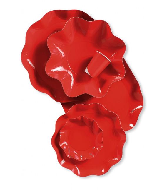 Bicchieri di Plastica Rosso 300 cc