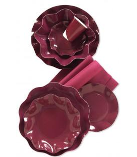 Tovaglioli 3 Veli Bordeaux 33x33 cm 3 confezioni