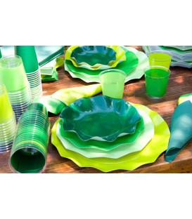 Piatti Piani di Carta a Petalo Verde Lime 21 cm