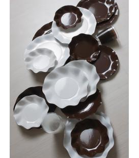 Bicchieri di Plastica Marrone Cioccolato 300 cc