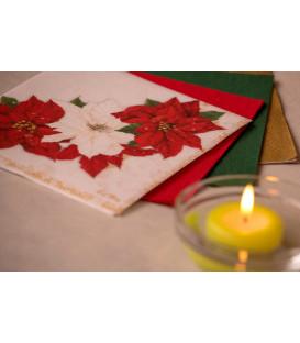 Tovaglioli 3 Veli Stella di Natale 33x33 cm