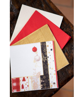 Tovaglioli 3 Veli Natale Patchwork 33 x 33 cm 3 confezioni
