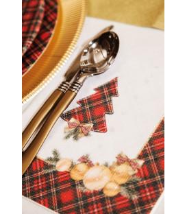 Tovaglioli 3 Veli Natale in Scozia 33 x 33 cm 3 confezioni