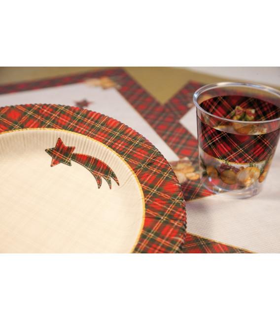 Piatti Fondi di Carta a Righe Natale in Scozia