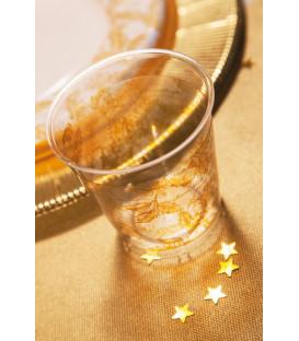 Bicchieri di Plastica Foglie Oro 300 cc