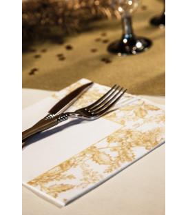 Tovaglioli 3 Veli Foglie Oro 33 x 33 cm 3 confezioni