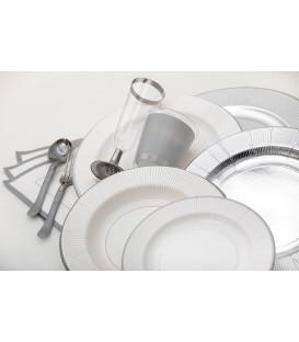 Tovaglioli Bordo Argento Classic Silver 33 x 33 cm 3 confezioni