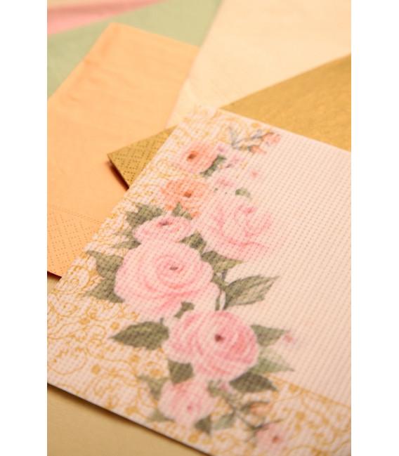 Tovaglioli 3 Veli Rose Flower 3 confezioni