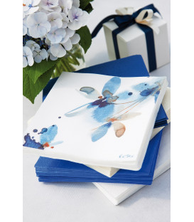Tovaglioli 3 Veli Fiore Blu 3 confezioni