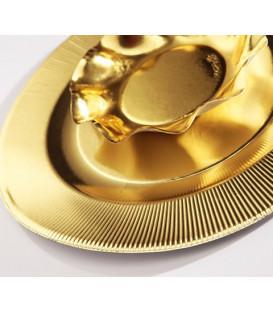 Piatti Piani di Carta a Righe Oro Metallizzato