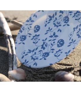 Piatti Piani a Righe Compostabili Natura Blu 27 cm